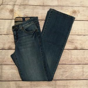 Nine West Vintage America Mid Rise Boot Cut Jeans